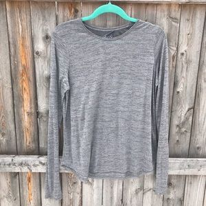Vince Heather Grey and Silver Long Sleeve Tee.